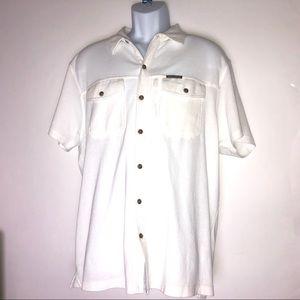 Field & Stream White Mens Fishing Shirt XL